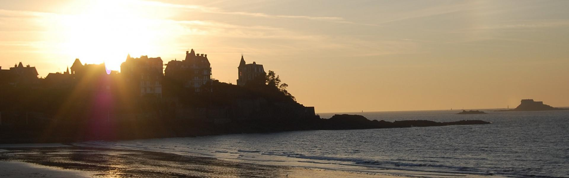 Paysage bech dinard, hotel les alizes dinard brittany
